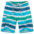 2017 Новое Прибытие Летние Мужские Boardshorts Повседневная Мода Свободные Полосатый Пляж Шорты Мужчины