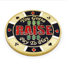 RAISE PAY TO PLAY gold color Poker Card Guard Protector coin,1pcs/lot free shipping цены