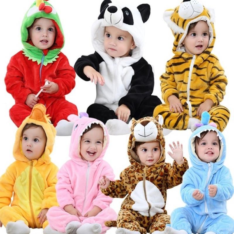 Baby rompers hello girls clothes new born baby Cartoon pajamas warm winter animal Pajamas roupas de bebe recem nascido