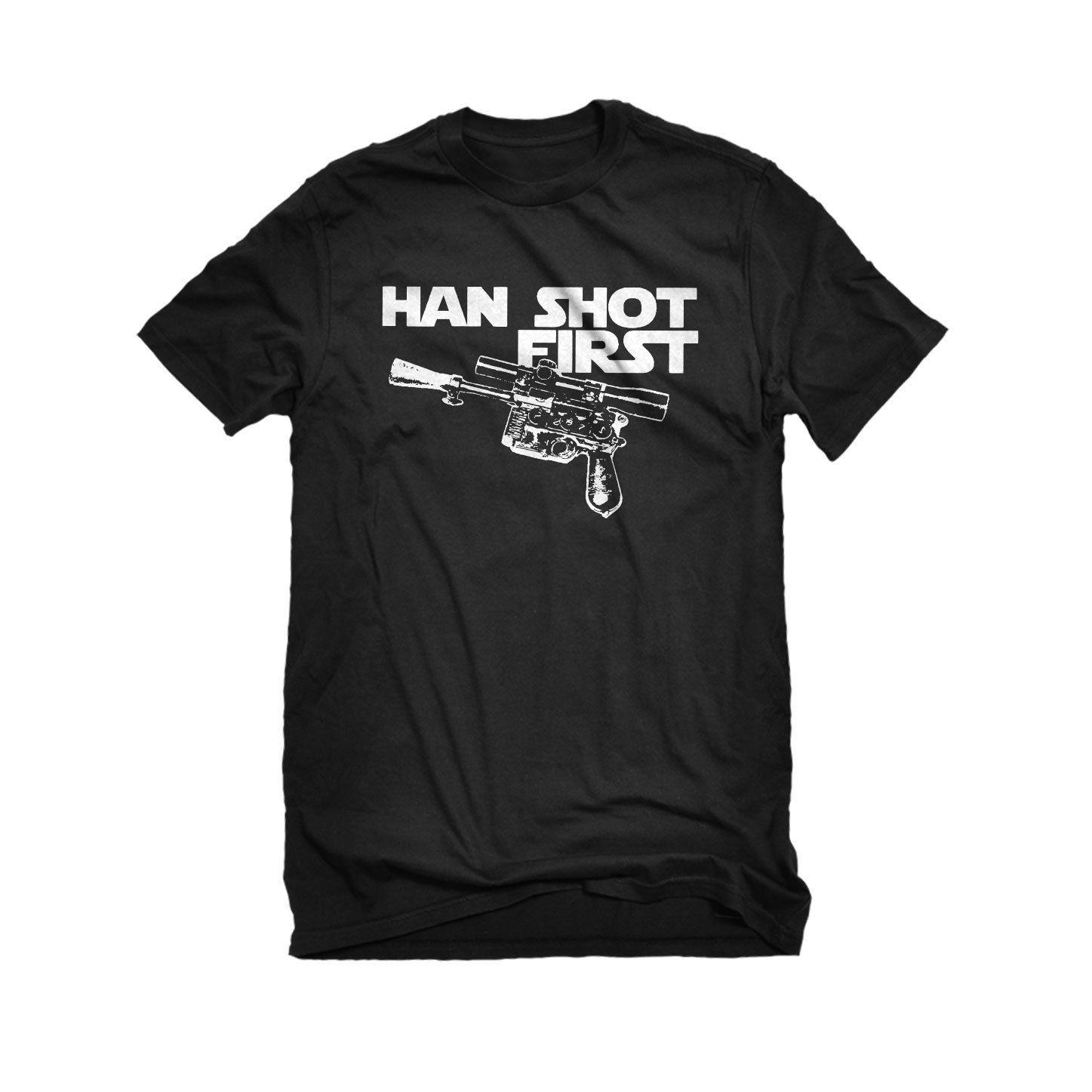 Мужская Хан выстрелил первым Футболка Мужская Настроить футболки