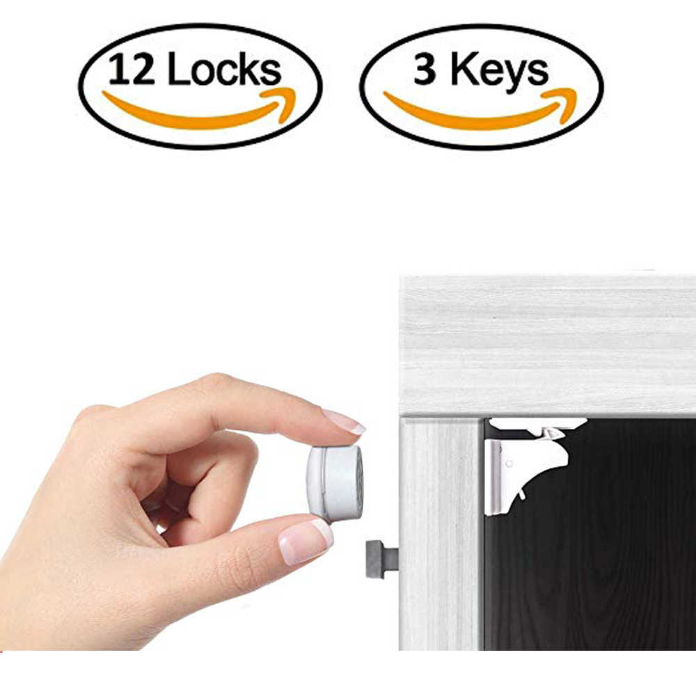 12+3 Pcs Magnetic Child Lock Child Protection Locks Baby Safety Lock Drawer Latch Cabinet Door Limiter Infant Security Locks
