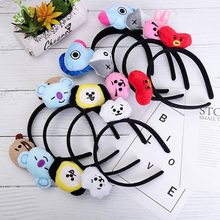 2019 K Pop BTS BT21 Hair Band Headband Bangtan Boys Korean Style Fashion Hair Rope CHIMMY TATA KOYA RJ COOKY SHOOKY MANG VAN(China)