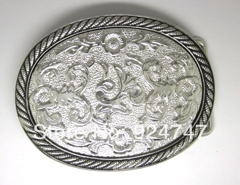 Fibbia occidentale ovale floreale floreale 3D del - Arti, mestieri e cucito