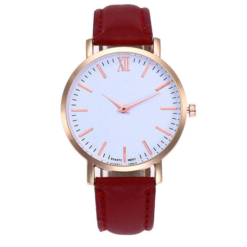 New Arrive 2018 Women Leather Simple Business Fashion Quartz Wrist Watches dropship 07