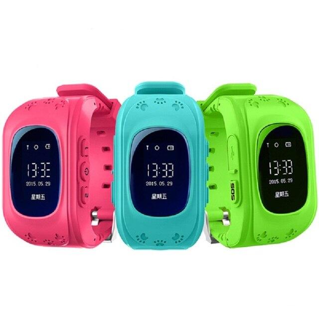 Q50 ЖК-Ребенок GPS Tracker SOS Smartwatch Умный Позиционирования Мониторинга Телефон Дети GPS Часы Совместим с IOS Android phone