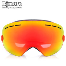 Bjmoto Ski sports snowboard Winter goggles glasses skiing anti-fog double layers ski mask snow