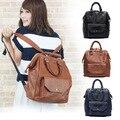 Lindo das mulheres PU de couro mochilas grandes sacos de ombro do sexo feminino, escola mochila, casual, saco de viagem