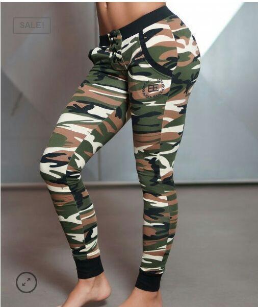 Cuerpo de Ingenieros Militares de Camuflaje Pantalones de Las Mujeres Pantalones Casuales Medias Flaco Pantalones de Chándal Corredores Sexy Fitness Femenino