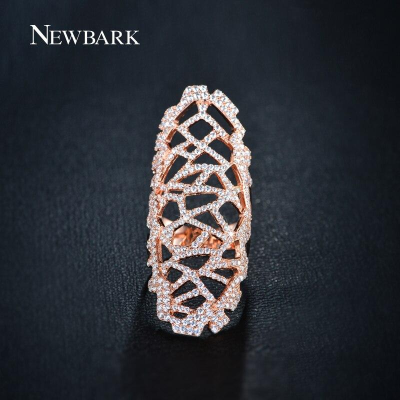 NEWBARK Full Mid Finger Rings Women Knucs
