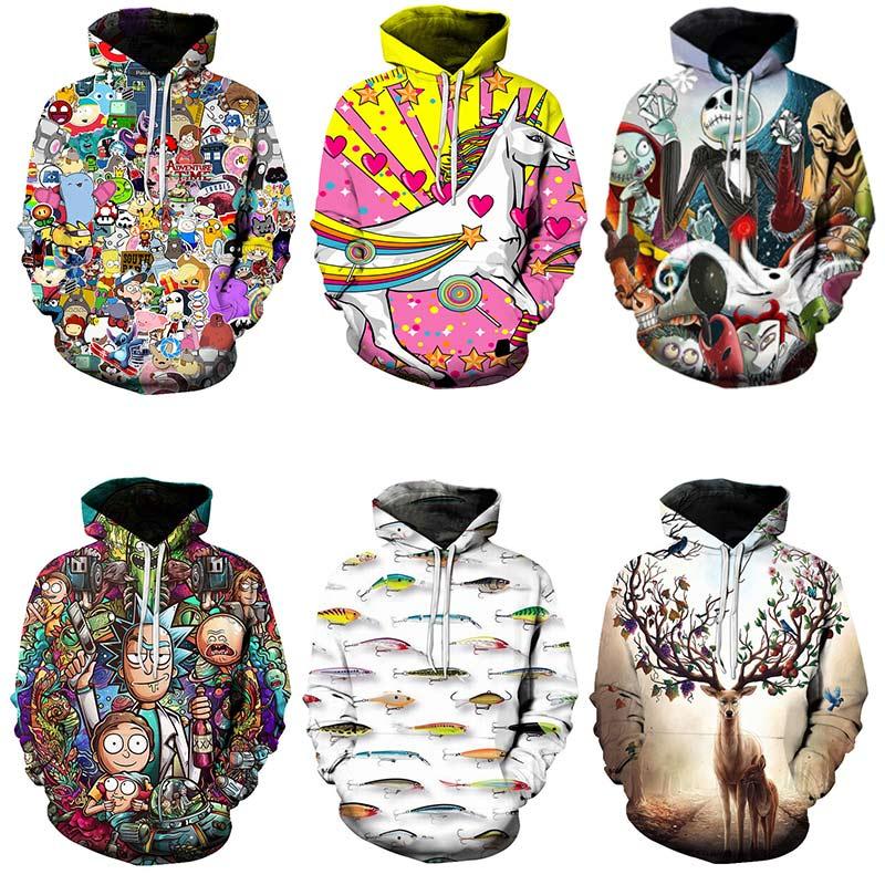 harajuku Fashion Collection off white hoodies 2019 Custom 3D Sweatshirts Hip Hop Men/Women Hat Funny Print Hooded streetwear(China)