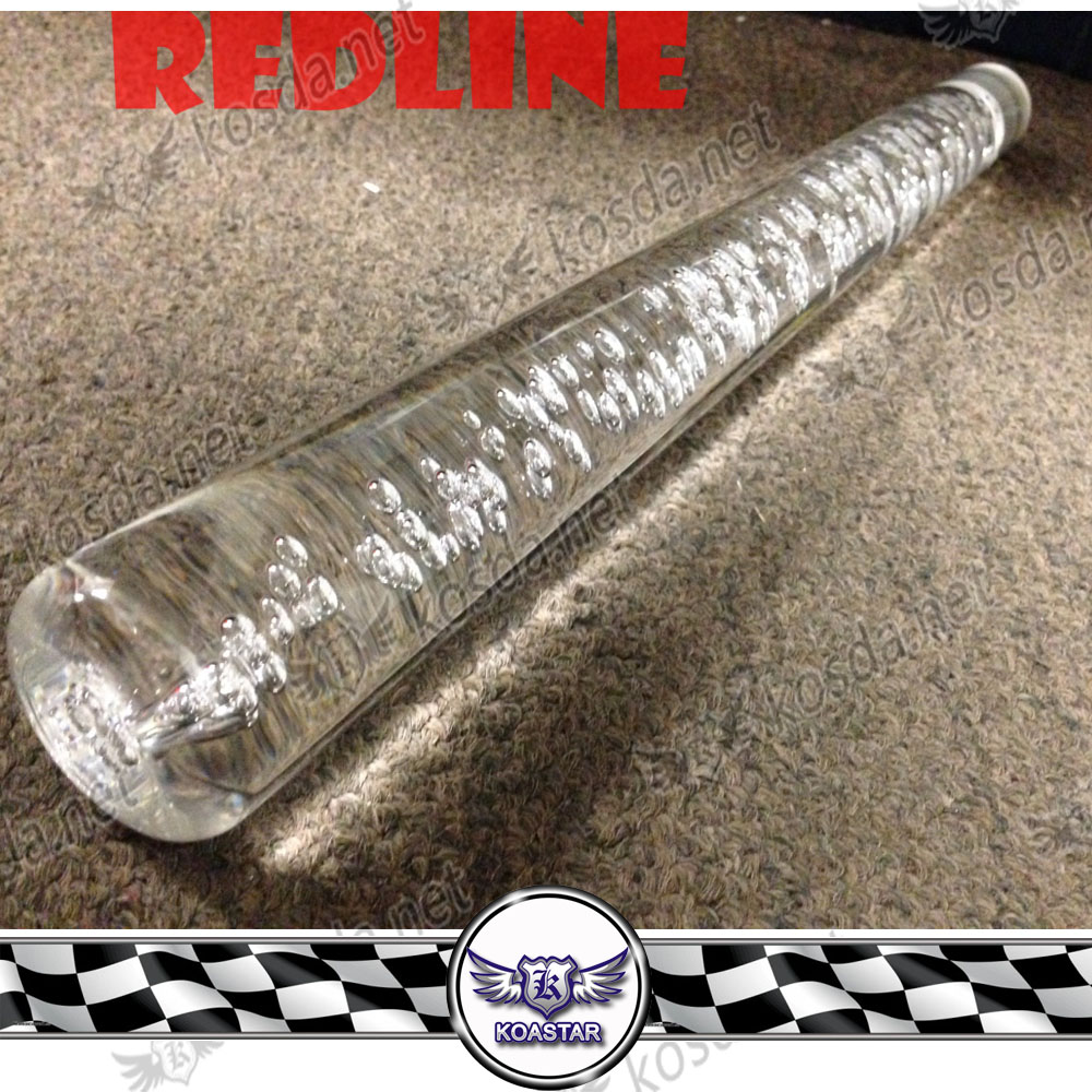 Universal Jdm 300mm Crystal Bubble Style Purple Shift Knob with Adapters