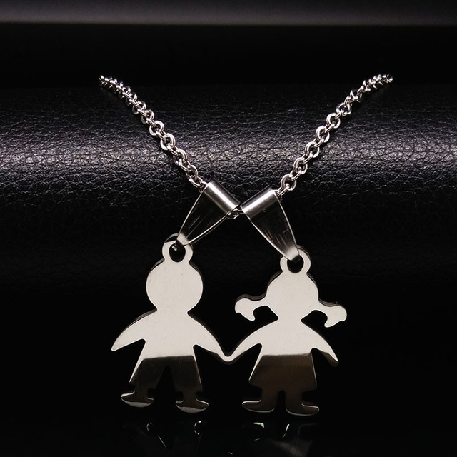 Family Boys Girls Stainless Steel Necklaces Mama Necklace & Pendants For Women Men Kids Jewelry colares feminino masculino N2504