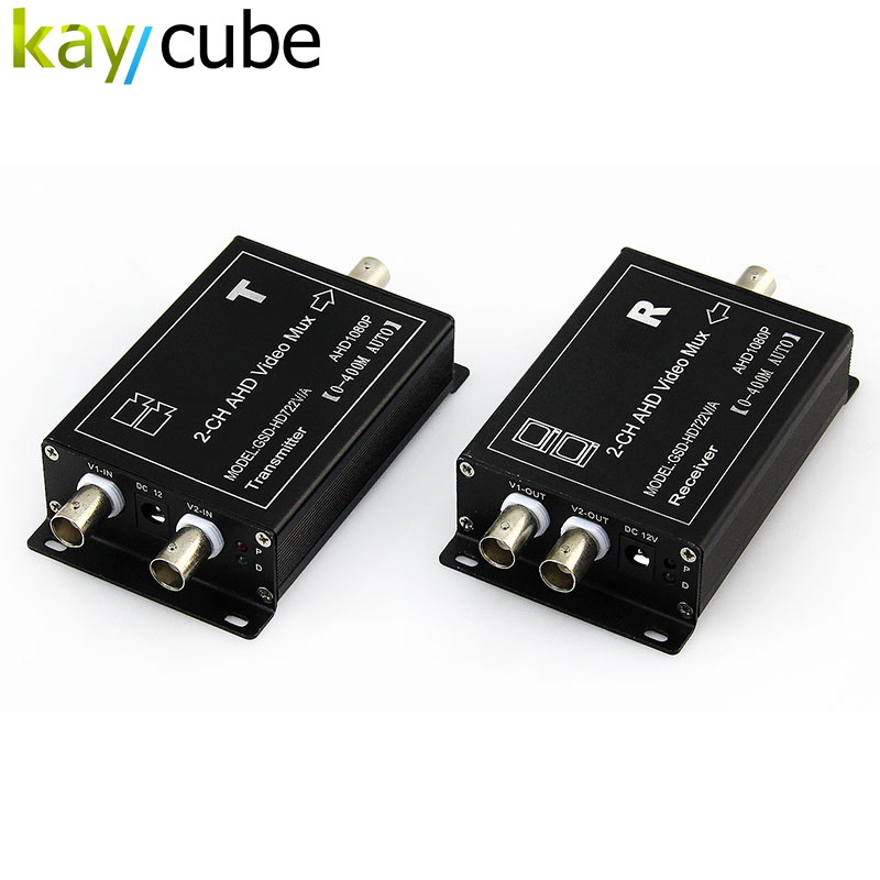 CCTV Camera 2 channel AHD coaxial video multiplexer with Signal Transmission Distance Kaycube