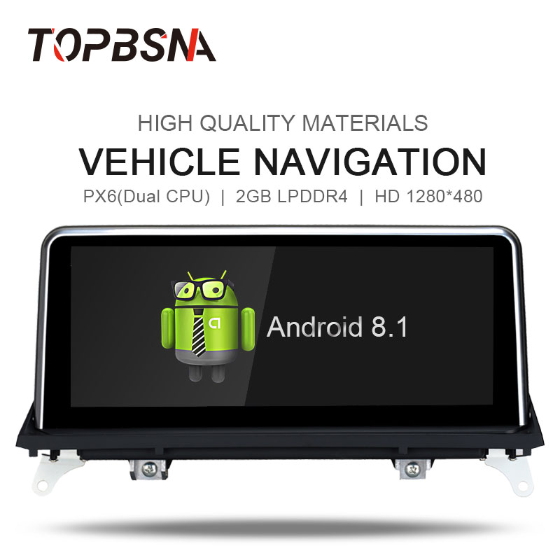 TOPBSNA Android 8.1 Car Multimedia for BMW X5 X6 E70 E71 2007-2010 Car Radio GPS Navigation Auto Audio Stereo Mirror-link BT RDS