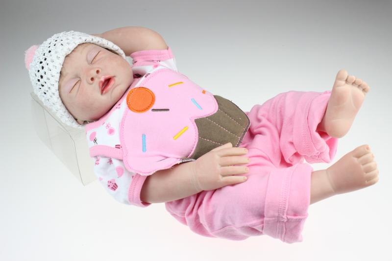 22 Inch Full Silicone Vinyl Reborn Dolls Sleeping Girl Body Realistic Newborn Babies Doll Girls Boneca For Kids Xmas Gifts песни для вовы 308 cd