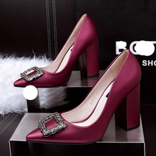 shoes women Pumps fashion Buckle Rhinestone high heels ladies party shoes fashion sexy thicks high heels zapatos de mujer pumps capputine summer fashion high heels shoes and bags set new africa style rhinestone pumps shoes and bag set for party ym005