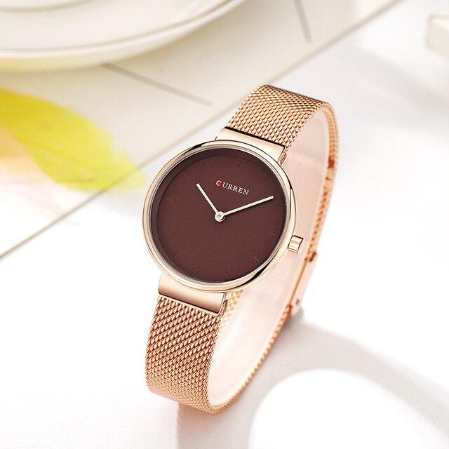 CURREN 9016 Women Watches Luxury Brand Mesh belt Ladies Quartz Women Watches Sport Relogio Feminino Montre Femme Wrist Watch