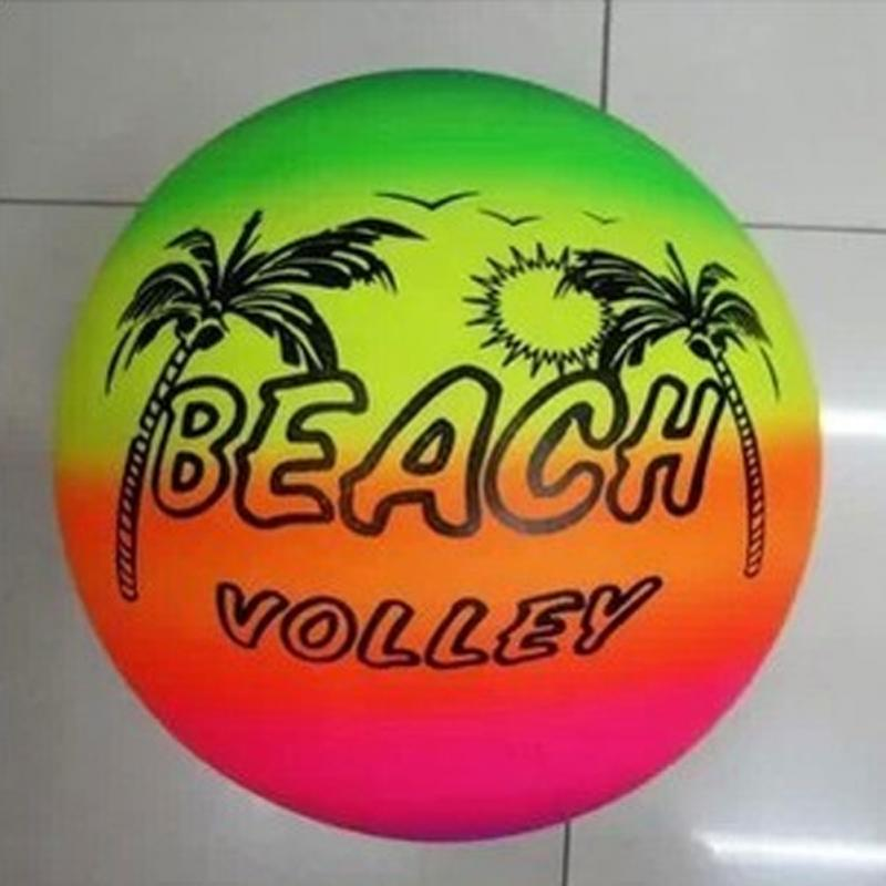 20cm Summer Beach Ball Inflatable Pool Swim Rubber Rainbow Beach Volleyball Garden Game Net Kids Toy