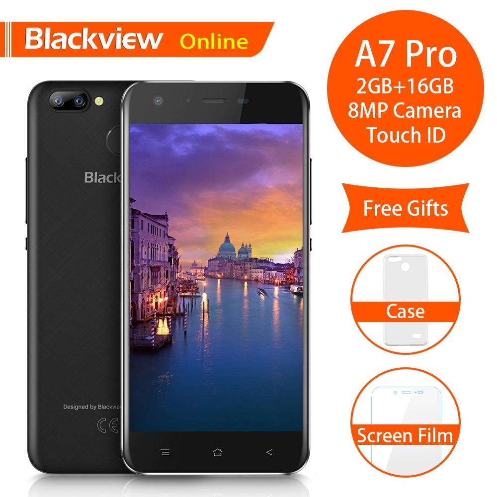 Blackview A7 Pro Original 5 0 inch Mobile Phone 2GB 16GB Fingerprint ID Dual SIM 8MP