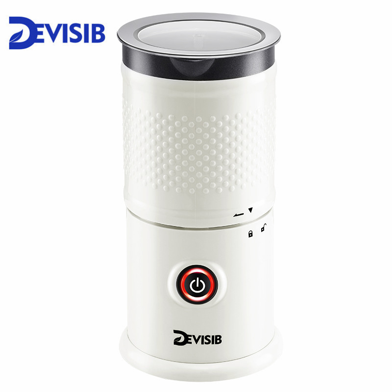 цена на DEVISIB Automatic Milk Frother Milk Steamer Electric Cappuccinator Hot /Cold Coffee Dishwasher Safe CE 1 Year Warranty Including