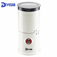 DEVISIB Automatic Milk Frother Milk Steamer Electric Cappuccinator Hot /Cold Coffee Dishwasher Safe CE 1 Year Warranty Including