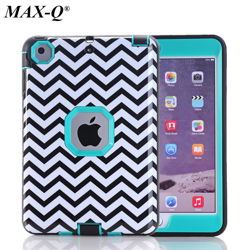 Shockproof Heavy Duty Wave Case for ipad mini3 TPU Hard Case for ipad mini4 PC Cover for Apple iPad mini2 Screen Film+Stylus Pen ...
