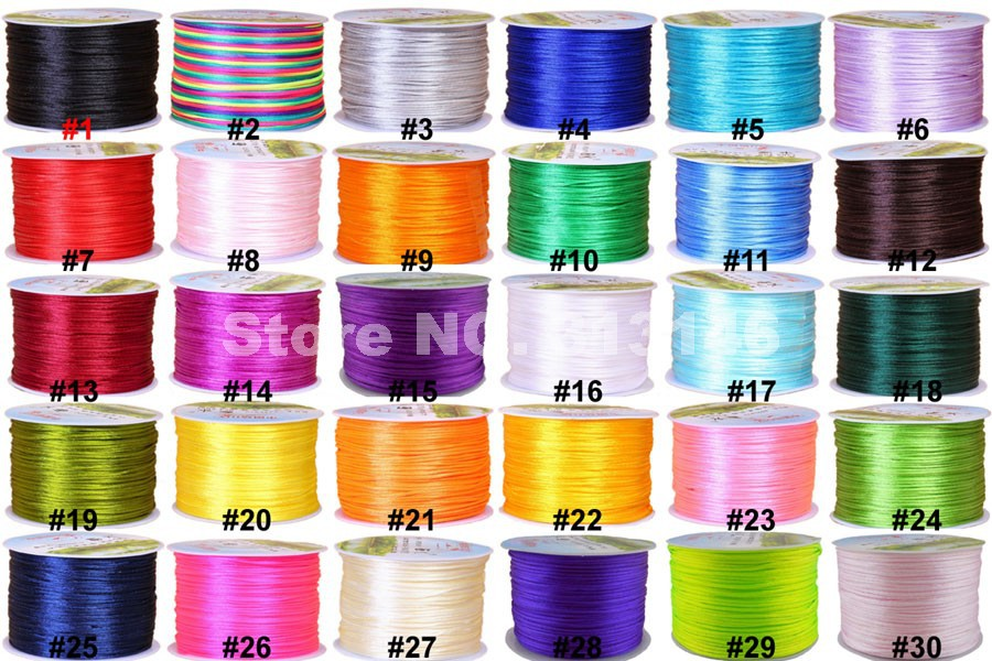 1mm 1.2mm 2mm 4mm Nylon Coated Round Elastic Cord Stretchable Beading Mala Craft