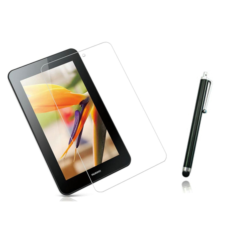 1x films + 1x Clean cloth + 1x Stylus , Clear LCD Screen Protector Film Guards For Huawei MediaPad 7 Youth 2 S7-721 S7-721u/721w
