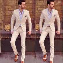 Fashion New Style Custom Size 2pcs Mens Groomsman Wedding Suits Taliored Texudo