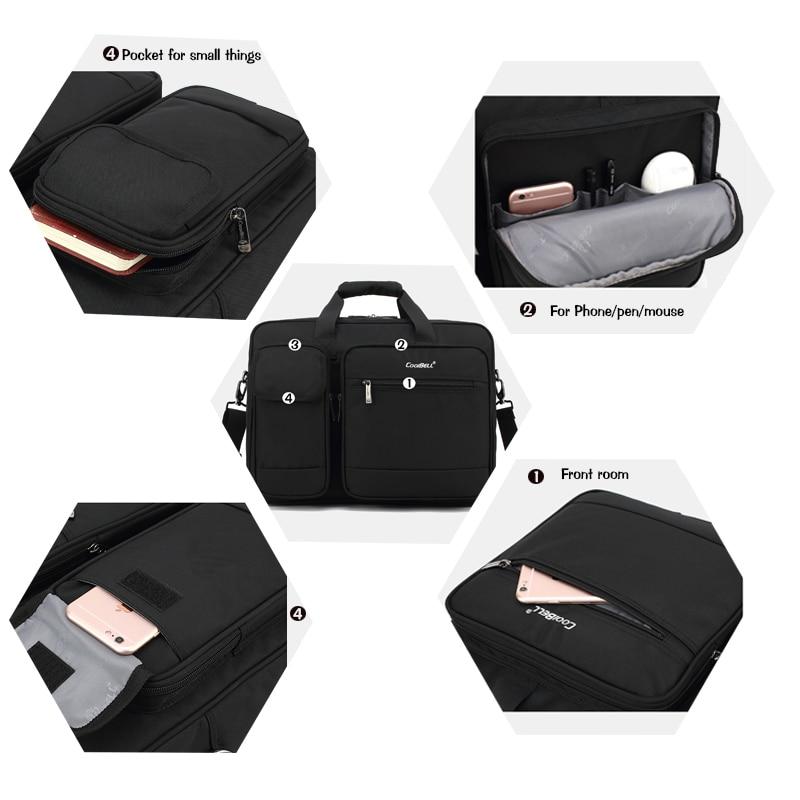 Image 4 - 2019 New Big capacity 15 15.6 laptop man business shoulder bag Messenger bag for macbook PRO 15.4 hp,17 17.3 computer handbag-in Laptop Bags & Cases from Computer & Office
