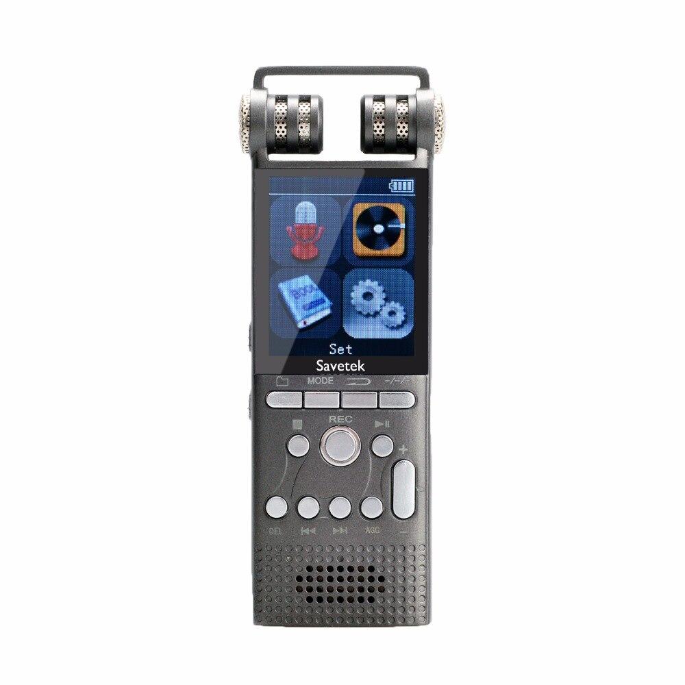 Enregistreur vocal Audio numérique professionnel activé par la voix 8 GB 16 GB stylo USB sans arrêt 100hr enregistrement PCM 1536 Kbps prise en charge tf-card