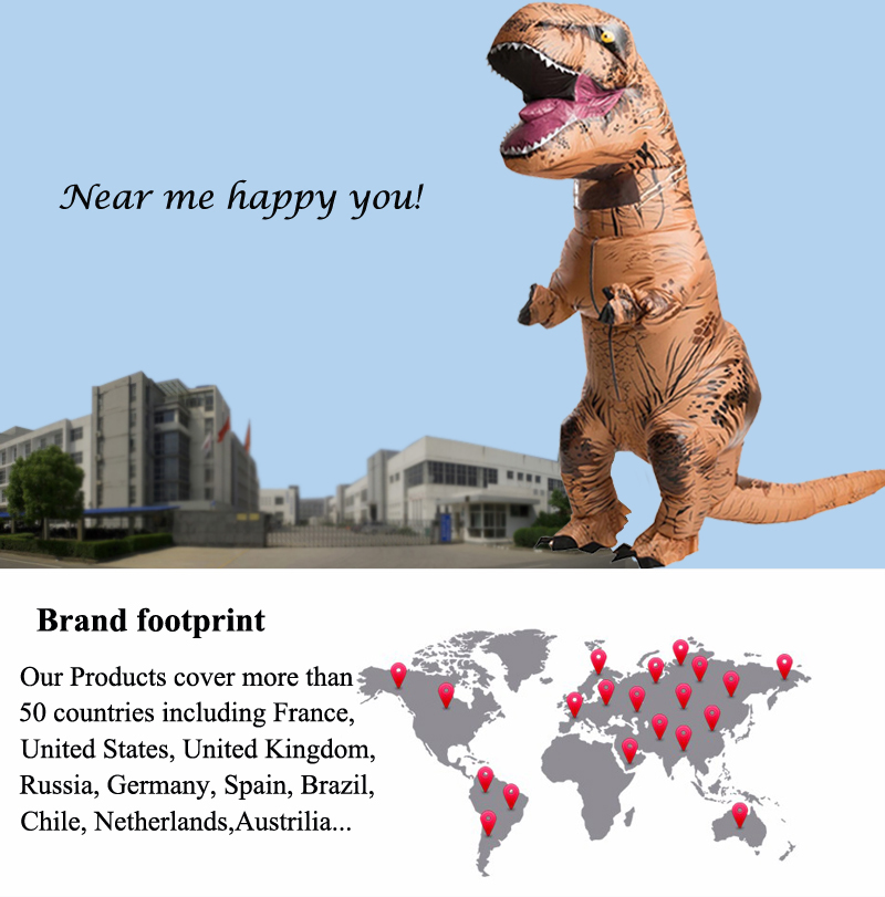 Adult T REX Costume Inflatable Dinosaur Party Costume Suit For Anime disfraces adultos costume Halloween Costumes for Women Men (7)