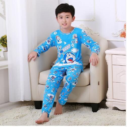 Novo 2020 dos desenhos animados do miúdo pijamas primavera outono menino pijamas definir crianças pijamas natal crianças conjunto de roupas menino pijamas