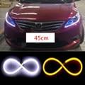 45 см x2 СВЕТОДИОДНЫМИ Фарами Дневного Света DRL Газа Янтарный Свет Бар свет Switchback DRL для Renault laguna megane логан 2 megane 2 3