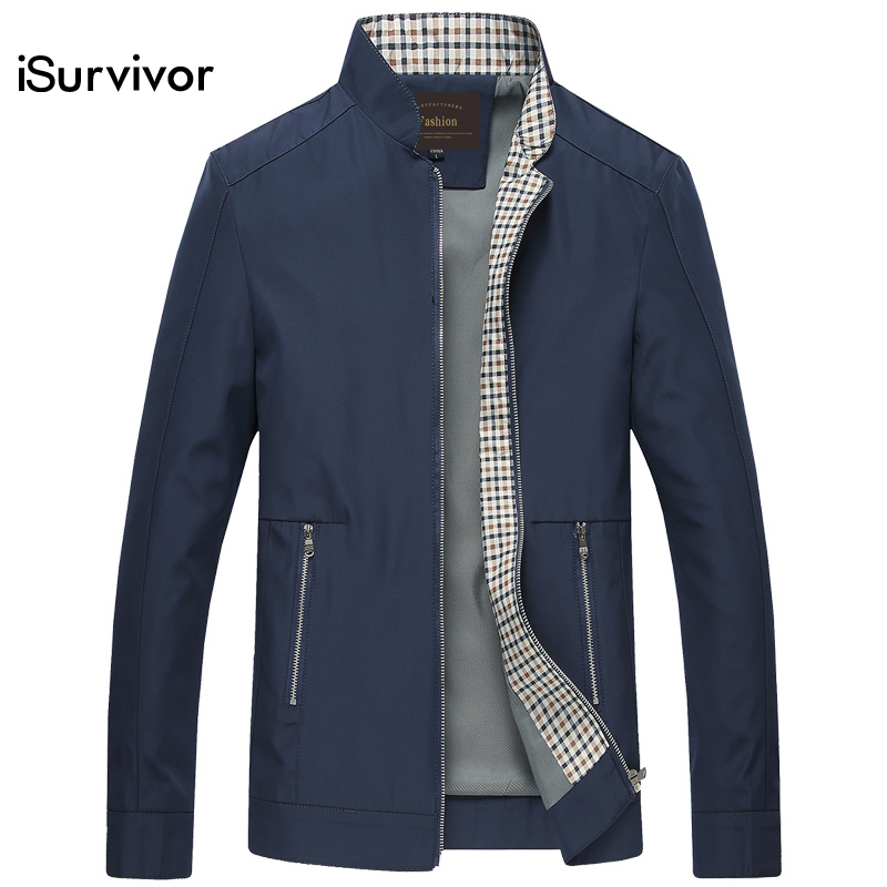 iSurvivor 2017 Men Autumn Jackets and Coats Jaqueta Masculina Male Causal Fashion Slim Fitted Large Size