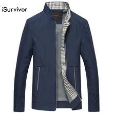 iSurvivor 2019 Men Autumn Jackets and Coats Jaqueta Masculina Male Causal Fashion Slim Fitted Large Size Zipper Jackets Hombre(China)