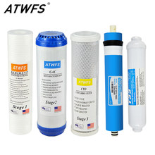 ATWFS 5 Stage Water Filters Cartridge for Household RO Filter ulp 2012-100 gpd 10 Inch Reverse Osmosis Membrane Purifier System(China)