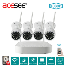 Acesee Wholesale 1080P 4ch Security Camera CCTV System Video Surveillance Kit 4x2mp SONY IMX323 HD Outdoor IP Camera Wifi HD 1TB