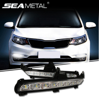 For KIA RIO K2 2015 2016 Car DRL Daytime Running Lights LED Lamps For Auto External