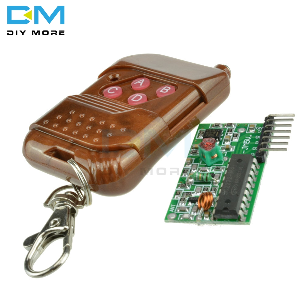 IC 2262 2272 315Mhz 433MHZ Four Ways 4 CH <font><b>Key</b></font> Wireless <font><b>Remote</b></font> Control <font><b>Module</b></font> Kit ASK Decoding <font><b>Receiver</b></font> Board For Arduino image
