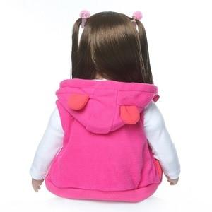 Image 5 - shipping from Russia 60CM high quality reborn toddler princess girl doll adorable Lifelike Baby Bonecas bebe doll reborn menina