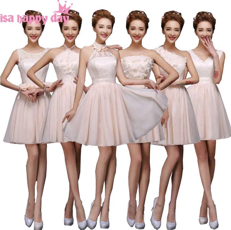 c2d6ef725c8a modest chiffon short v neck bridesmaid elegant bridemaid teen bridesmaids  dress party dresses champagne wedding guest