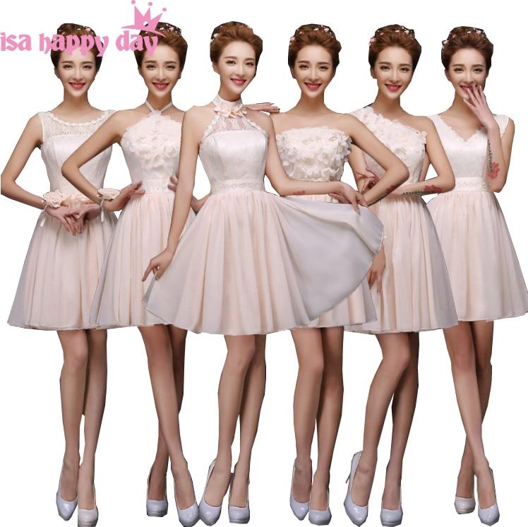 modest chiffon short v neck   bridesmaid   elegant bridemaid teen   bridesmaids     dress   party   dresses   champagne wedding guest H4236