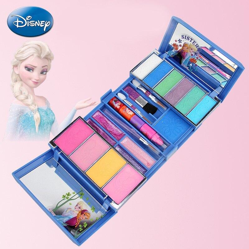 Frozen Disney Makeup Toy Girls Disney Princess Elsa Anna Kids Makeup Children Make Up Set Girls Pretend Play Disney Jewelry