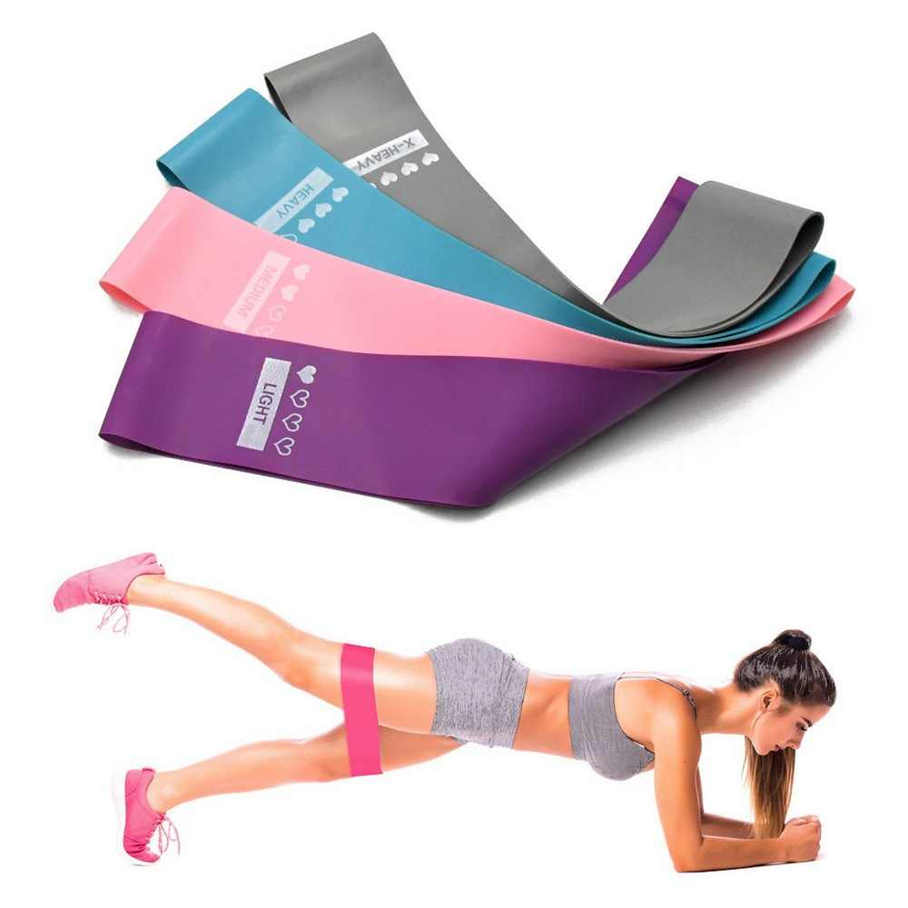 Antypoślizgowe zespoły oporu pętli elastyczna opaska do sprzętu Fitness treningu Expander Fitness gumy lateks opaski gumowe Sport joga