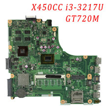X450CC for ASUS Laptop Motherboard F450V X450CC X459CC i3 3217U REV2.3 GT720M 8 Memory 2G mainboard 100% Fully Tested