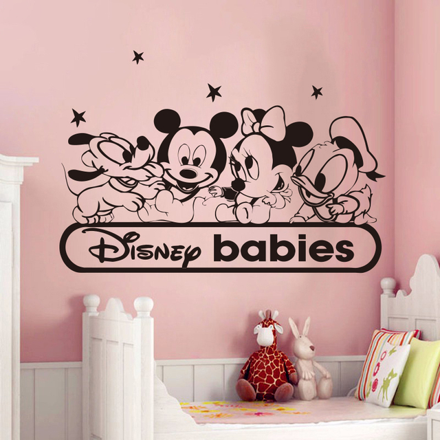 Kreative Neue DIY nette Mickey Mouse und seine freunde wandaufkleber ...