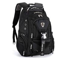 swiss larger travel wateproof Men's 17 laptop Backpacks Waterproof Laptop Backpack Black Mochila Masculina Pack For Students