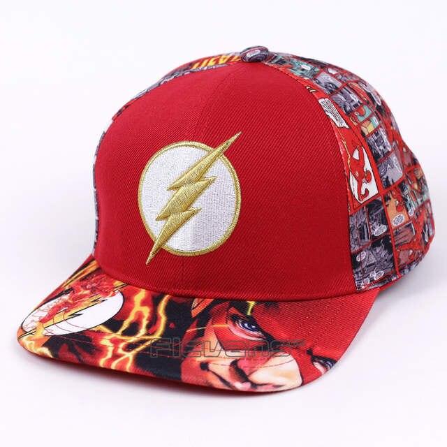 placeholder Moda hombres mujeres Gorras de béisbol DC superhéroe el flash  SnapBack gorras ajustable CAP para niño 38cd4454aa4