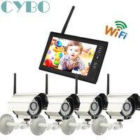 Barato Cámara digital CCTV inalámbrico de 7 pulgadas y 2,4 GHz, sistema de grabadora DVR de seguridad para el hogar, cámara infrarroja para exteriores, kit de vigilancia con tarjeta SD TF